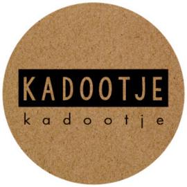 Kadootje 35mm Kraft/zwart - 10 stuks - Kado etiket