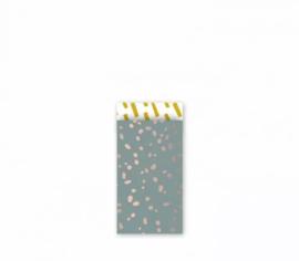 Cadeau zakjes Colorful Terrazzo - 7x13cm - 7 stuks