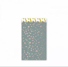 Cadeau zakjes Colorful Terrazzo - 12x19cm - 5 stuks