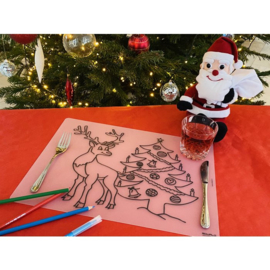 Herkleurbare Placemat - Kerst rendier - PAKKETPOST!