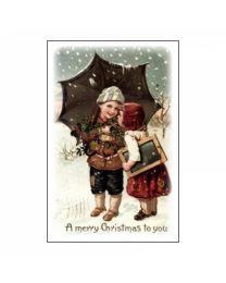 GvN044 Geurzakje met envelopje - Kerst