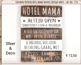 Houten tekstbord 40x30 - Naturel - Hotel Mama - Pakketpost