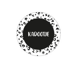 Kadootje 45mm zwart/wit - 10 stuks - Kado etiket