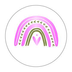 Regenboog metallic roze - 10 stuks - Kado etiket