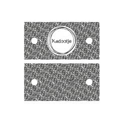 Kadolabel Kadootje rond - 7x3.5cm - dubbelzijdig zwart/wit - 5 stuks