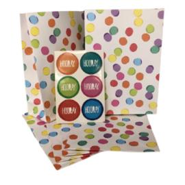Party zakjes + sluitstickers Hooray Confetti