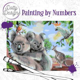 DDP10007 Schilderen op nummer - Koala beren - Pakketpost