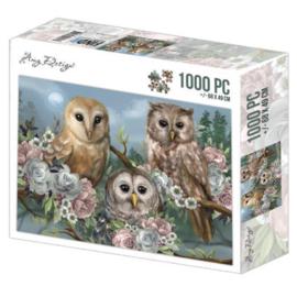 Puzzel Uilen pastel 1000 stukjes - Pakketpost