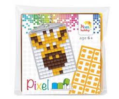 23027 Pixel sleutelhanger set compleet - Giraffe