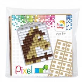 Pixel sleutelhanger set compleet - Paard