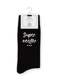 Sokken Super Meester 40-46  - Winkeltje van Anne