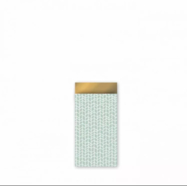 Cadeau zakjes New Tracks Mint/Goud - 7x13cm - 7 stuks