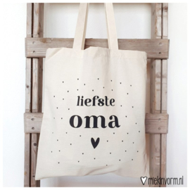 Linnen tas Liefste Oma - Miek in Vorm