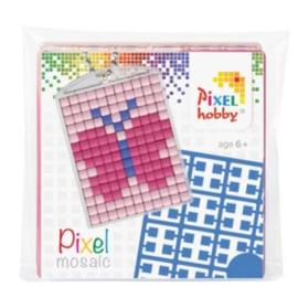 Pixel sleutelhanger set compleet - Vlinder