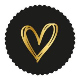 Hartje Gold Black kartel 35mm  - 10 stuks - Kado etiket