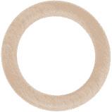 Bijting hout - 6.8cm doorsnee - Creatief