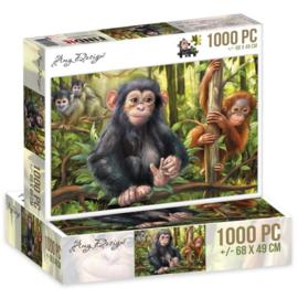 Puzzel Apen 1000 stukjes - PAKKETPOST!