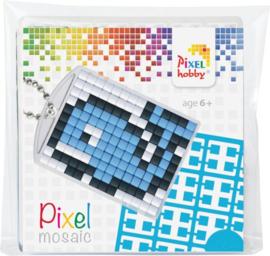Pixel sleutelhanger set compleet - Walvis