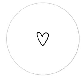 Roundie 20cm voor binnen - Wit met wit hartje