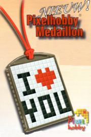 23016 Pixel sleutelhanger set compleet - I Love You 1