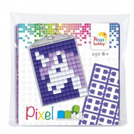 Pixel sleutelhanger set compleet - Eenhoorn paars