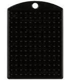 Losse sleutelhanger Zwart met kettinkje  -  Pixel Hobby