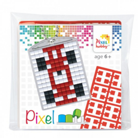 Pixel sleutelhanger set compleet - Auto