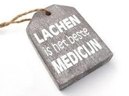 1963 Label Lachen is de beste medicijn - Grijs