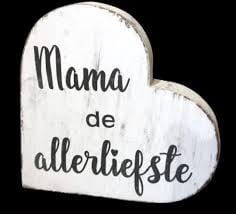 1314 Teksthart Wit - Mama de alleliefste