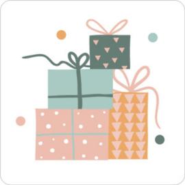 Cadeautjes Wit/pastel - 10 stuks - Kado etiket