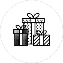 Cadeautjes Wit/Zwart - 10 stuks - Kado etiket