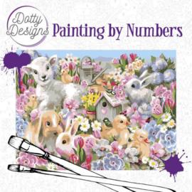 DDP10013 Schilderen op nummer - Baby dieren - Pakketpost