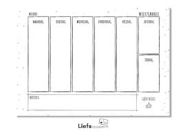 Weekplanner - Liefs op Papier