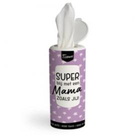 Tissues koker - super blij met een mama zoals jij - PAKKETPOST!!