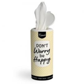 Tissues koker - don't worry be happy - PAKKETPOST!!