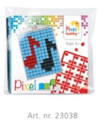 23038 Pixel sleutelhanger set compleet - Muziek noten
