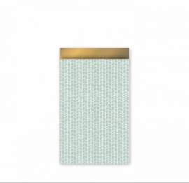 Cadeau zakjes New Tracks Mint/Goud - 12x19cm - 5 stuks