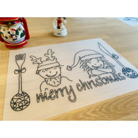 Herkleurbare placemat - Kerst kids - Pakketpost