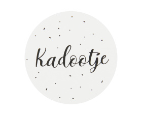 Kadootje 35mm zwart/wit - 10 stuks - Kado etiket