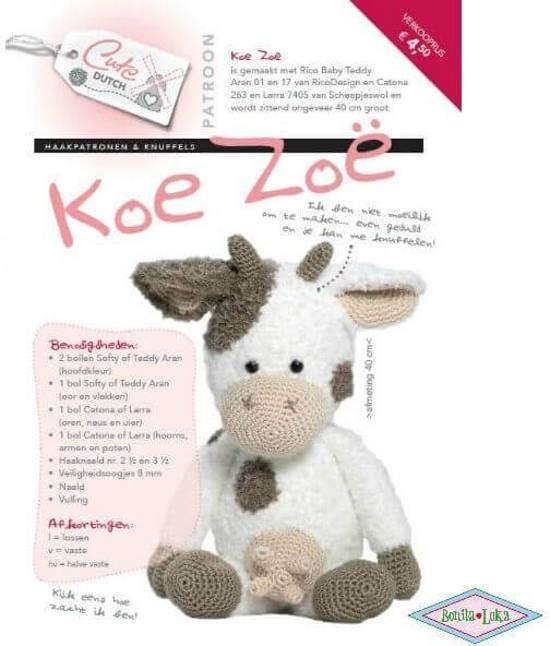 Patroon Koe Zoë - Cute Dutch - Creatief