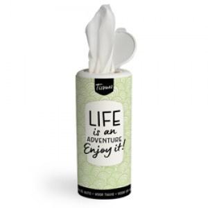 Tissues koker - life is an adventure enjoy it!- PAKKETPOST!!