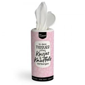 Tissues koker -in deze tissues zitten kusjes & knuffels verborgen  - PAKKETPOST!!