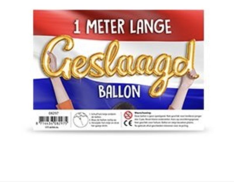 Ballon Geslaagd 1 meter