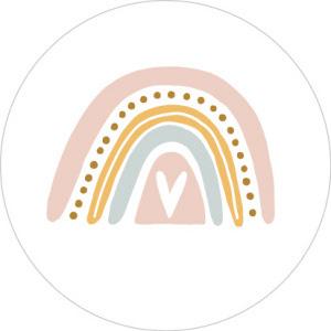 Regenboog Rose/wit - 10 stuks - Kado etiket
