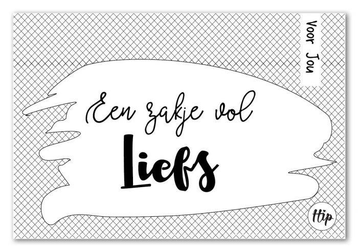 30 Geurzakje met envelopje - Een zakje vol Liefs - Hip