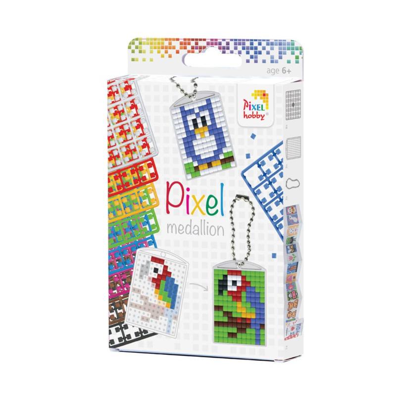 Pixelsetje sleutelhangers - 3 stuks