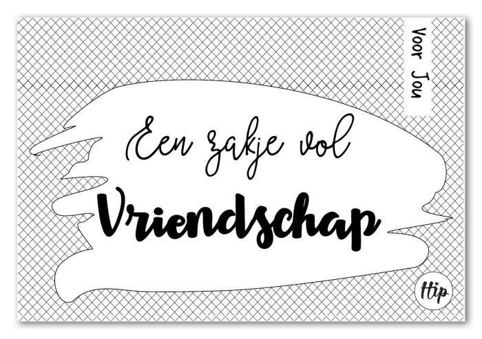 27 Geurzakje met envelopje - Een zakje vol vriendschap - Hip