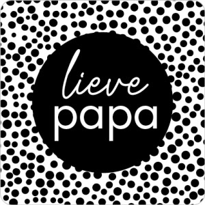 Lieve Papa zwart/wit  - 10 stuks - Kado etiket