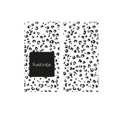 Kadolabel Kadootje - 7x3.5cm - dubbelzijdig zwart/wit - 5 stuks