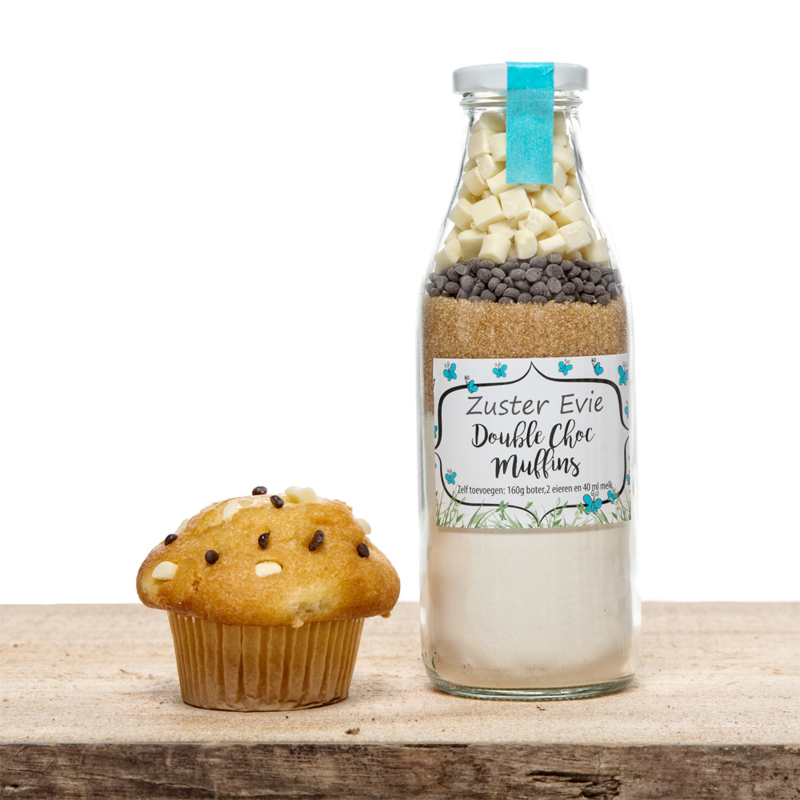 Muffinmix- Double Chocolate - Zuster Evie - PAKKETPOST!!